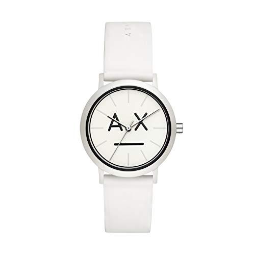 Armani Exchange Damen Analog Quarz Uhr mit Silikon Armband AX5557