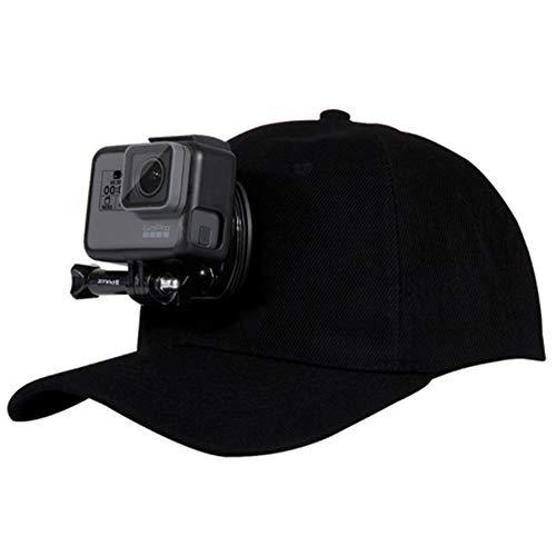 Runfon Kamera Baseball Cap verstellbar Cap Baseball Mütze mit Quick Release Schnalle Mount Floating Hat Mount für GoPro Action Kameras dunkelblau Schwarz -