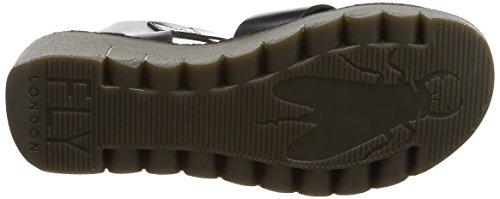 FLY London Yeri909, sandales compensées  Femme Noir (Black 000)