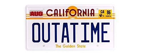 Back To The Future OUTATIME License/Number Plate