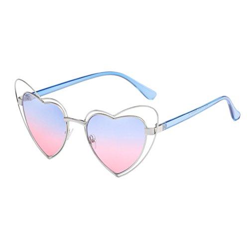 Zhhlaixing personalità vintage cat eye occhiali da sole forma speciale love frame eyewear per donne ladies