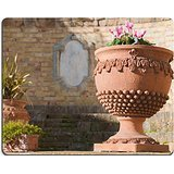 MSD Natural Rubber Gaming Mousepad IMAGE ID: 34993031 Typicsal terracotta vase of Caltagirone used as an ornament in a little square of the town