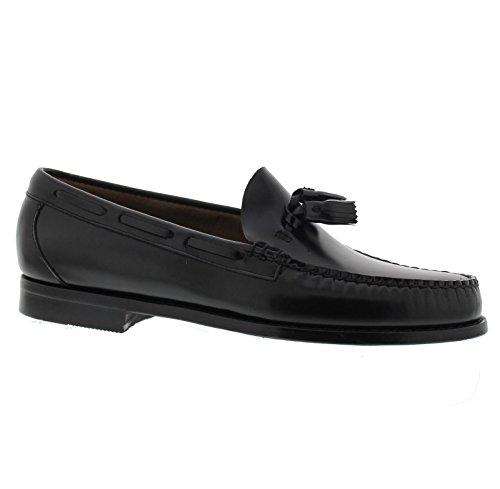 uns Larkin Moc Tassle Black Leather Shoes 9.5 UK (Bass Weejuns Herren Schuhe)