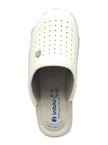Pantofola inblu per donna in eco-pelle bianca Bianco