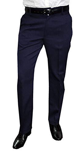 NGB Herren Anzughose mit Bügelfalte, Blau, Gr 64
