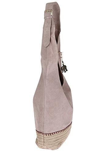 Anokhi , Sac pour femme à porter à l'épaule mauve