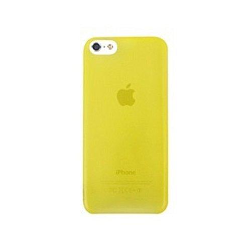 Aiino Ultradünne Schutzhülle Handyhülle Schale für Smartphone Apple iPhone 5C - Blau Gelb