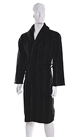 Dark Grey Pierre Roche Fleece Mens DRESSING GOWN Gowns * Robe - Medium