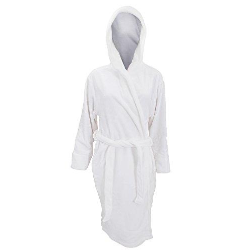 Textiles Universels Robe de Chambre en Polaire Douce - Femme (XL) (Blanc)