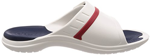 Crocs Unisexe-Adultes Modi Sport Slide Tongs Blanc