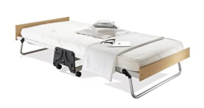 JAY-BE J-Bed Single Folding Bed with Contract Mattress, Aluminium Frame and Exclusive J-Lok - low-cost UK light shop.