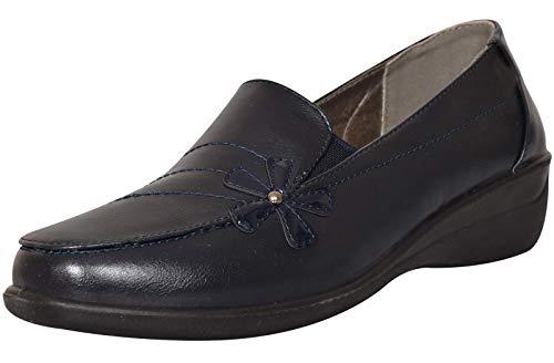 7f3bda44 Shoe Tree Comfort - Botas Mocasines de Sintético Mujer, Color Azul, Talla 39