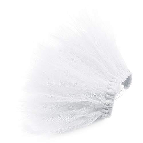 QiuxiaoaaPet Welpen Net Rock Hochzeitskleid Spitze Kleiner Hund Spitzenrock Prinzessin Tutu Kleid Kleidung Kleid Kostüm Nette Weiße Große (Nettes Und Einzigartiges Kostüm)