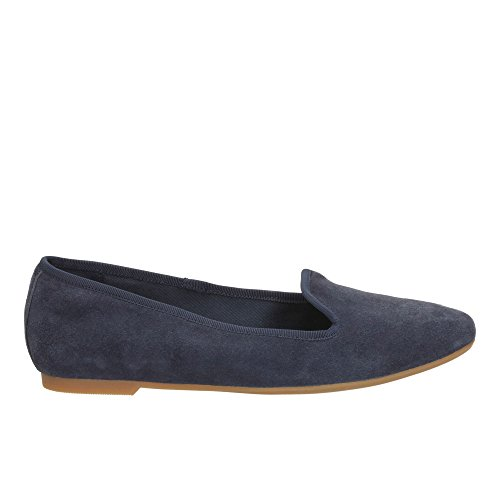 Clarks Chia Milly Suede Shoes In Navy Standard Fit Size 5