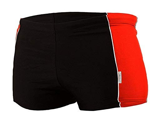 STANTEKS - Bañador de natación - para niño Rojo/Negro 9 años
