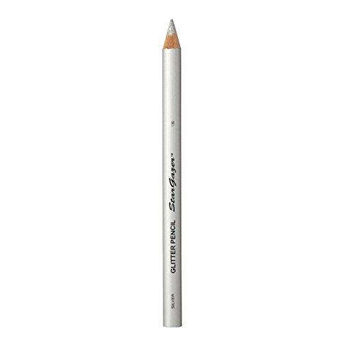 Stargazer Products Glitzer Kajal/Lippenstift, silber, 1er Pack (1 x 1 g) -