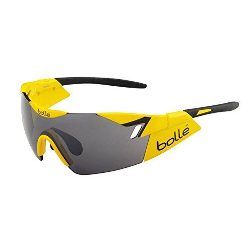 Bollé 6th Sense - Gafas de sol deportivas, color amarillo brillante / negro