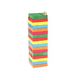 Finitgo Giocattoli per i Bambini 54PCS Alta Piles Educational Building Blocks in Legno woodens Regalo di Compleanno Unico