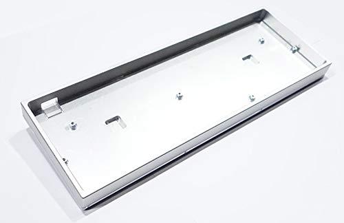 GH60 Gehäuse aus eloxiertem Aluminium, CNC-Metall, seitlich glänzend, für 60% mechanische Tastatur Silber