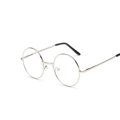 YUHANGH Runde Spiegel Sonnenbrille Für Frauen Männer Retro Metallrahmen Brillen Koreanische Klare Linse Sonnenbrille Männlich Weiblich Optische