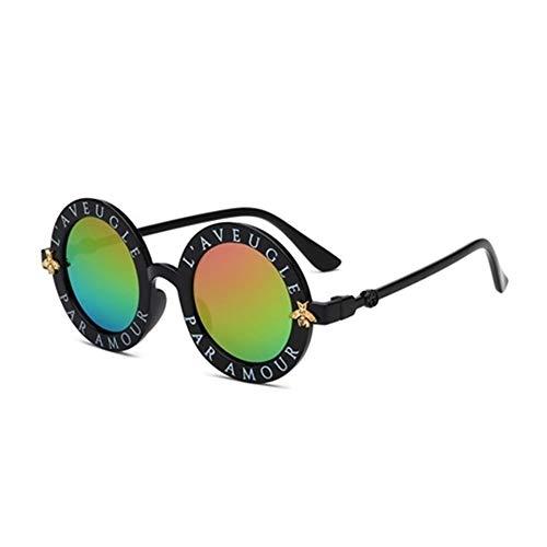 XIAOXINGXING Kindersonnenbrille Jungen Mädchen Vintage Kindersonnenbrille Runde Sonnenbrille Oculos Feminino Zubehör (Lenses Color : Multi)