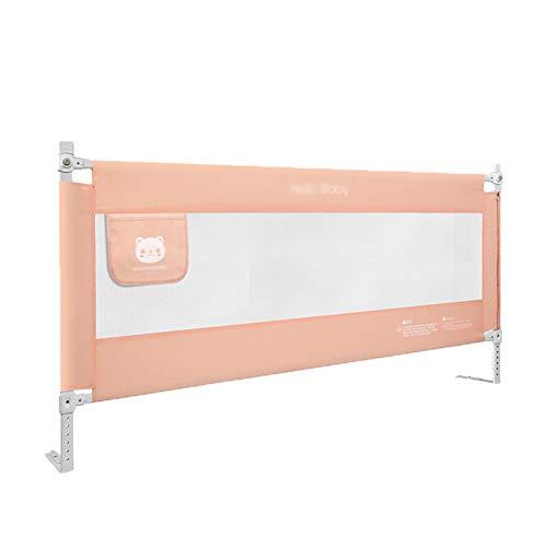 Bettgitter- Baby Bett Schiene Pink, 2m Länge Bett Guard Passt Kleinkind, Höhenverstellbare Geländer Für Kingsize-Bett, 85cm Hoch (größe : 180cm) (Bett-schiene Für Baby Reise)