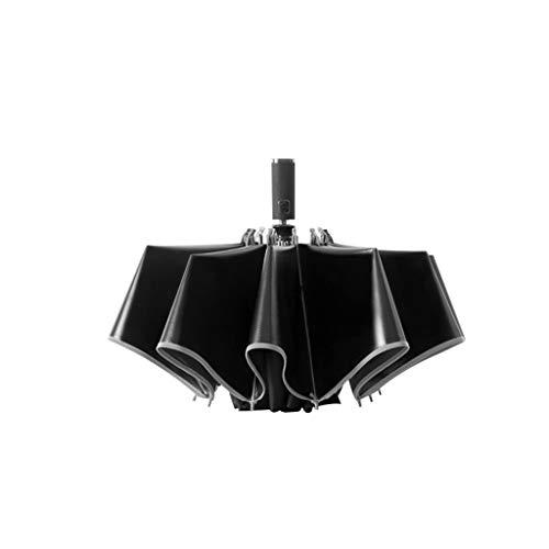 Ombrello pieghevoli antivento automatico ombrello compatto resistente robusto ombrello per esterno da viaggio ombrello da viaggio pieghevole portatile ombrello per coppia grande (nero)