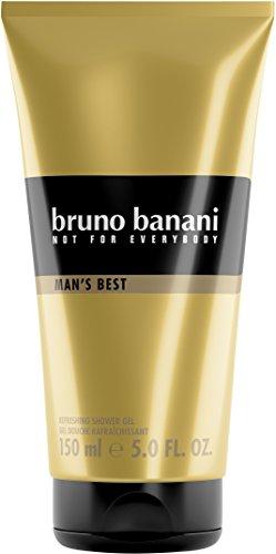 Bruno Banani Man's Best Shower Gel, elegant + maskulin, macht Verführung super einfach, 150 ml -