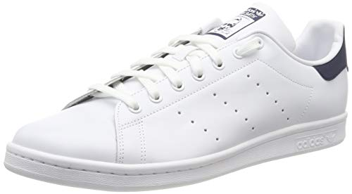 adidas Originals, Stan Smith, Sneakers, Unisex - Adulto, Bianco (Core White/Dark Blue), 43 1/3 EU