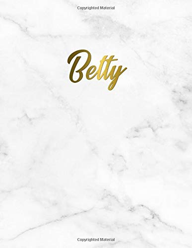 Betty: Cute Personal 2019-2020 Academic Planner with Weekly Views, Monthly & Yearly At A Glance, To Do's, Notes, Vision Boards, Inspirational Quotes and More. Nifty Marble & Gold Organizer & Calendar.