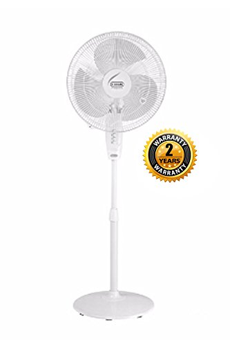 V-Guard Finesta STS 400mm 1350 RPM Pedestal Fan(Pure White) (1 Year Warranty + 1 Yr. Extended)