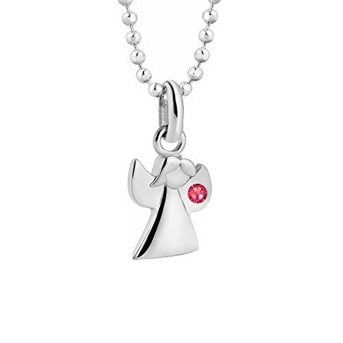 butterfly Mädchen Silberkette Silber 925 Swarovski Elements Engel-Anhänger Schutzengel Rosa Längen-verstellbar Geschenkverpackung Kinder Geschenk Schmuck