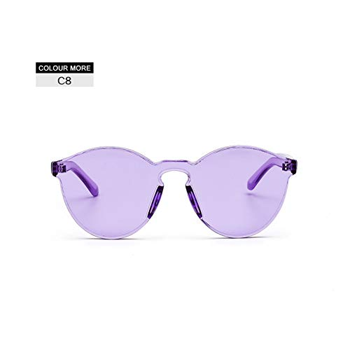 LETAM Sonnenbrille Cat Eye Klar Damen Sonnenbrille Candy Farbe Womens Cool Cateye Eyewears Männer Retro Integrierte Sonnenbrille