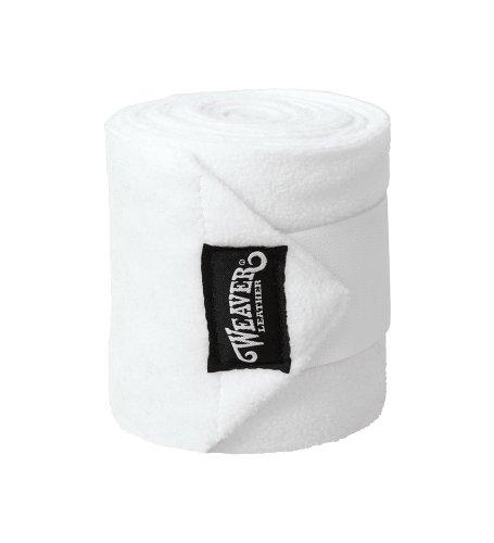 Weaver Leder Polo Bein Packungen, weiß, 4-Pack