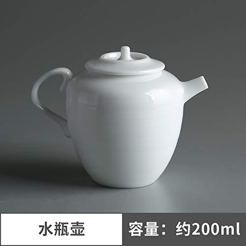Théière Céramique Théière En Céramique Pot En Porcelaine Blanche Xi Shi Fait À La Main En Céramique Théière Trou De Filtre Filtre À Thé Ménage 180Ml, Pot De Bouteille D'Eau