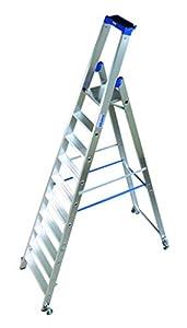 KRAUSE  ldc661Stehleiter Standard mit Rollen, 10Trittstufe, 4.35m Höhe...