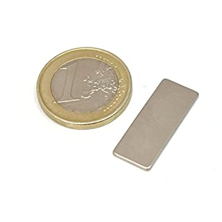 AimanGZ- Neodymium magnet block, 25mmX10mmX1mm, 5 units