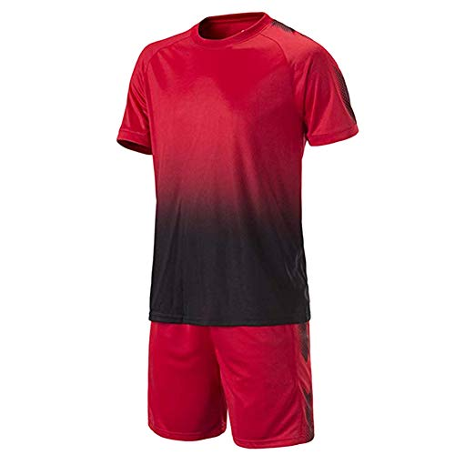 Hzjundasi Fußball Training Uniform - Jugend Kinder Erwachsene Football Jerseys Sportbekleidung Hemd + Shorts (Fußball Jugend Kostüm)