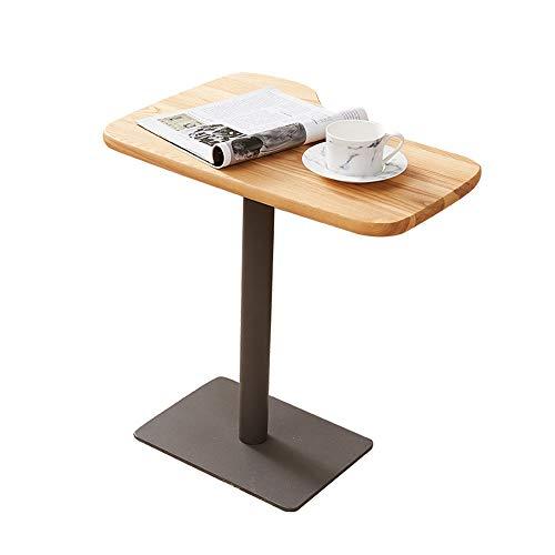 LINA Table de canapé, Table de Chevet de Chambre à Coucher de Table de Chevet, 56x40x55cm Simple Nordique créatif Bois + métal
