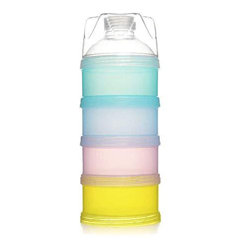 NewPI Dosatore per Latte in Polvere Impilabile Contenitore Spuntino, Libero Impilabile Scatola per Latte in Polvere, Materiali di PP Qualità Alimentare