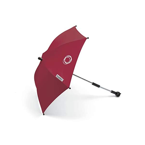 Bugaboo Parasol+, Ruby Red Bugaboo Attaches to all bugaboo pushchairs Keeps your child UV-protected and comfortable on sunny days Provides sun protection of UPF 50+ 1