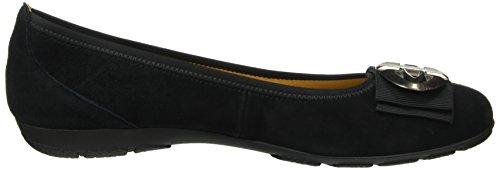 Gabor Shoes Sport, Ballerine Donna Nero (schwarzaltsilber)