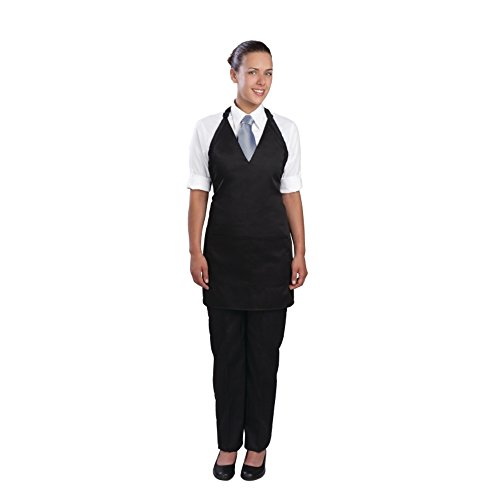 Nextday Catering A709 Unisex Grembiule Tuxedo, in policotone, colore: nero