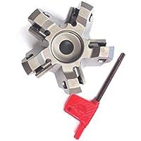 hhip 2068–25002–1/5,1cm X 3/10,2cm Bohrung 45Grad Octagon 5Einsatz Index können Face Mühle, 1–3/10,2cm OAL