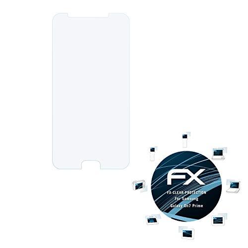 atFolix Schutzfolie kompatibel mit Samsung Galaxy On7 Prime Folie, ultraklare FX Bildschirmschutzfolie (3X)