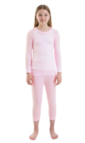 2-Pack-ChildrensGirls-Thermal-Underwear-Sets-Long-Sleeve-Vest-Long-Pants-PolyesterViscose-Various-Colours-Sizes