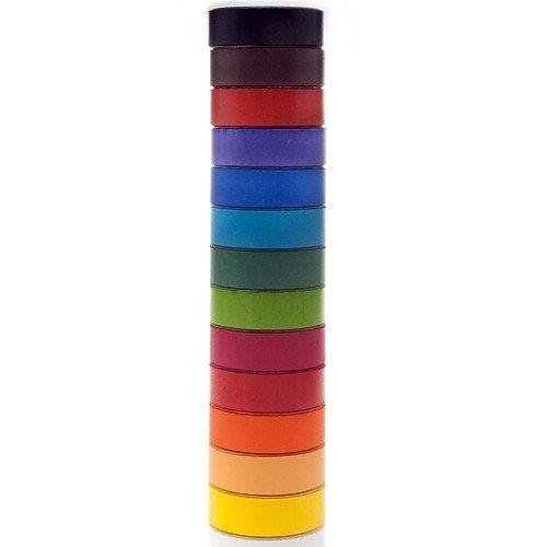 Tempera-Blöcke / Tempera-Pucks - Farbtabletten 55mm, 14 Stück sortiert in 14 Farben
