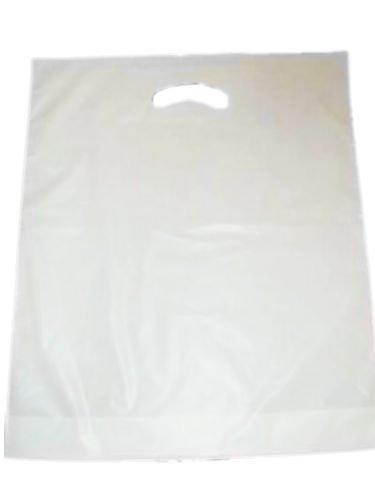 Tragetaschen , Einkaufstüten 38 x 45 + 5 BF cm , 300 Stück weiß verstärktes Griffloch LDPE TKT