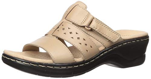 CLARKS Women's Lexi Juno Sandal, Sand Leather, 90 M US