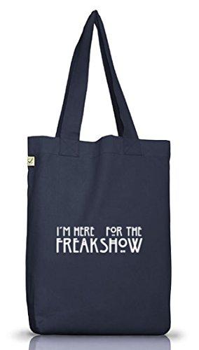 Shirtstreet24, AHS - Freak Show, Jutebeutel Stoff Tasche Earth Positive (ONE SIZE) Jeans Blue
